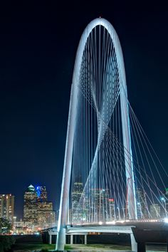 Margaret Hunt Hill Bridge, Dallas, Texas by Santiago Calatrava