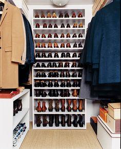 A dream closet by designer, Antony Todd. #shoes