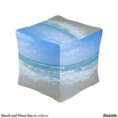 Shop Beach and Wavy Sea Pouf created by stdjura. Decoration, Beautiful Beaches, Decorative Boxes, Sea, Photography, Products, Home Decor, Home Decoration, Decorating