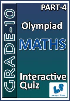 10-OLYMPIAD-MATHS-PART-4 Interactive quizzes & worksheets on Percentage and Pipes & Cisterns for grade-10 Olympiad Maths students. Total Questions : 230+ Pattern of questions : Multiple Choice Questions   PRICE :- RS.61.00