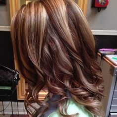 curly hair and highlights