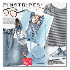 """Pinstripes"" by svijetlana ❤ liked on Polyvore featuring Diesel, MANU Atelier, pinstripes and zaful"