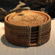 Best-mall Round Vitenam Rattan Coasters with Holder, Set of 7 (8CM) Best-mall http://www.amazon.com/dp/B00PFYQOJW/ref=cm_sw_r_pi_dp_T6Eyvb0PNF2CX
