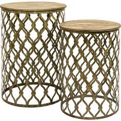 Imax Maridell Nesting Tables (Set Of 2) (Nesting Table Set), Gold