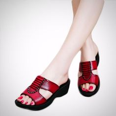 931446a0b6b933 Soft   Comfortable Women s Leather Slippers. SEASIDENVY · Women s shoes ...