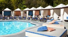 W Los Angeles – West Beverly Hills Los Angeles Located at the foothills of Bel Air and adjacent to Beverly Hills, this luxury boutique hotel is 15 minutes away from the famed beaches of Santa Monica and near the entertainment of the Sunset Strip. Guests can enjoy the outdoor pool.