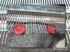 ▶ In the Ditch Buttonholes for Machine Knitters - YouTube