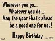 Wherever You Go Birthday Greeting