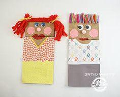 Resultado de imagen para puppets with paper bag
