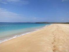 Our footsteps on #Papohaku #Beach (Three Mile Beach) in #Molokai