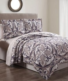 Good Look What I Found On #zulily! Light Violet Patina Three Piece Quilt Set