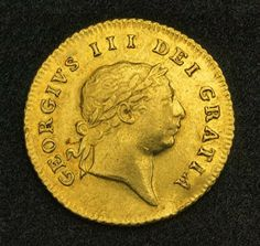 Half Guinea British Gold Coin (7th Type), George III, mint place London 1810. Obverse: Laureated head of George III right. Legend: GEORGIVS III DEI GRATIA French Coins, Foreign Coins, Coin Display, Gold Money, Gold And Silver Coins, Gold Bullion, World Coins, King George, Coin Collecting