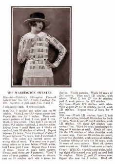Warrington 1920s sweater free