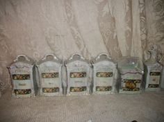 Antique Germany porcelain lusterware canister by FabulousFinds1, $250.00