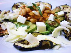 Salada de Berinjela e Abobrinha Grelhadas com Soja | Figos & Funghis