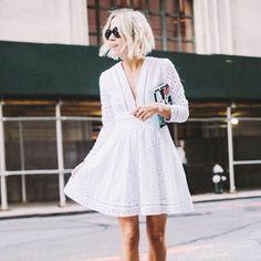 Look trendy com vestido branco.