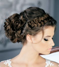 lovely braid and curls