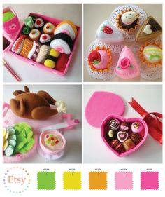 Julyhobby's felt food... they look delicious and cute!