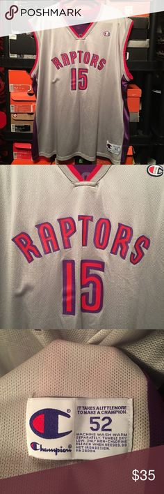 Vintage Champion Raptors Vince Carter Jersey Vintage Champion Toronto Raptors Vince Carter Jersey. Mens Size 52 XXL. Champion Shirts Tank Tops