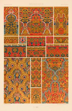 One of hundreds of thousands of free digital items from The New York Public Library. Medieval Pattern, Medieval Art, Textile Prints, Textile Design, Textiles, Decoration, Art Decor, Pattern Art, Pattern Design
