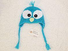 bluebird earflap hat $15