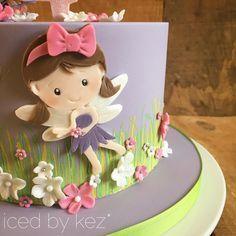 Super cute Fairy for Ruby's cake!! #icedbykez #pettinice #fairycake #fairy #rubyturns4 #instacake #cake