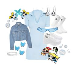 Discover outfit ideas for college made with the shoplook outfit maker. How to wear ideas for Butterfly Hair Clips and Heart Adjustable Necklace in Power Puff Costume, Powerpuff Girls Halloween Costume, Power Puff Girls Bubbles, Super Nana, Cartoon Outfits, Teenage Outfits, Themed Outfits, Teen Fashion, Fashion Outfits