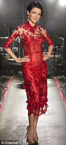 Ready to go: Dannii looking glamorous on Australia's Got Talent last year