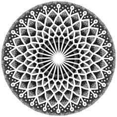 As you look at the center it expands!