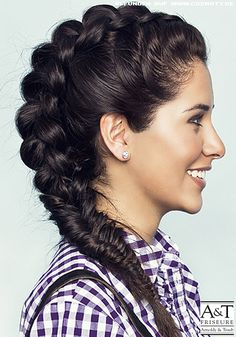 1000 images about trend flechtfrisuren damen on pinterest braided hair plaits and. Black Bedroom Furniture Sets. Home Design Ideas