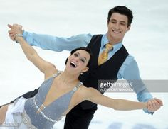Canada's Tessa Virtue and Scott Moir perform their short program in the ice dance category during the ISU World Figure Skating Championships on April 29, 2011 in Moscow. AFP PHOTO / ALEXANDER NEMENOV (Photo credit should read ALEXANDER NEMENOV/AFP/Getty Images)