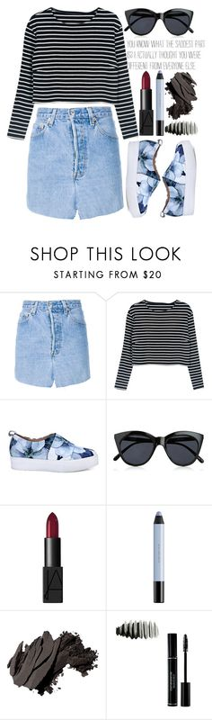 """""""× what if i fall? .. oh, my darling, what if you fly? ×"""" by black4ever ❤ liked on Polyvore featuring Vetements, Le Specs, NARS Cosmetics, shu uemura and Bobbi Brown Cosmetics"""