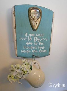 Upcycle that old scale.