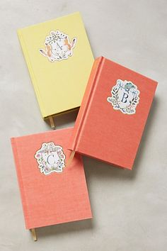Monogram Crest Journal #anthropologie