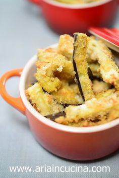 Blog di cucina di Aria: Bastoncini di melanzane croccanti cotti al forno