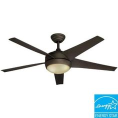 Hampton Bay Windward IV 52 in. Indoor Oil Rubbed Bronze Energy Star Ceiling Fan-26603 at The Home Depot