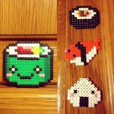 Sushi Time hama beads by marziafata