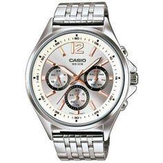 Ricardo Eletro Relógio Masculino Casio, Caixa de 5 cm, Pulseira de Aço Mista R$ 179,91