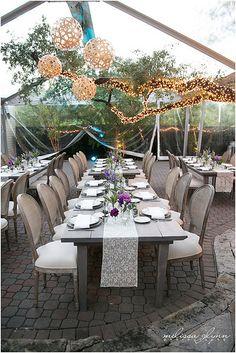 Coral Globes, Tree Lighting, Tent lighting - The Allan House - Photo by Melissa Glynn | by IntelligentLightingDesign
