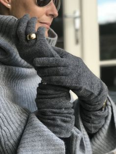 d494f7944 Long grey cashmere gloves – very cozy! Can be worn scrunched at the wrists  or. Catherine Robinson Cashmere