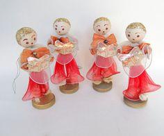 Vintage Christmas Ornament Decoration Spun Cotton by teresatudor, $16.50