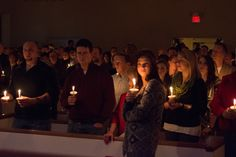 Day 358: Candlelight service on Christmas eve.