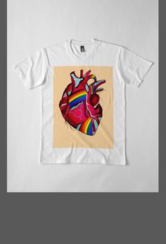 2e02445c5b LGBT Pride T-Shirts For Men and Women. This heart is part of a