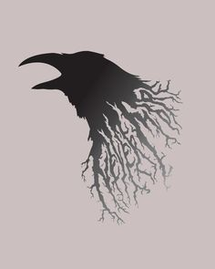 Raven Art | Here is another design done in Illustrator. I would like to play with ...