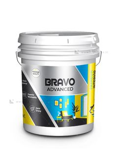 BRAVO Paint Bucket Label - Brandz.co.in Bag Packaging, Packaging Design, Branding Design, Industrial Packaging, Brochure Food, Tea Labels, Paint Buckets, Soap Boxes, Brand Design