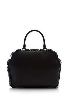 Large black scalloped bag by SIMONE ROCHA Available Now on Moda Operandi