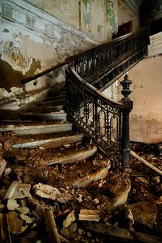 Ruin is the road to transformation. But it also makes me sad. This had to be one hell of a staircase once...