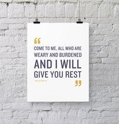 Matthew 11:28   Bible Verse Art