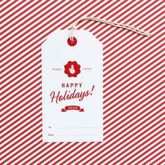 FREE Holiday Greeting Tag and Pocket » Eat Drink Chic
