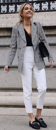Best Winter White Blazer Outfits Ideas 45